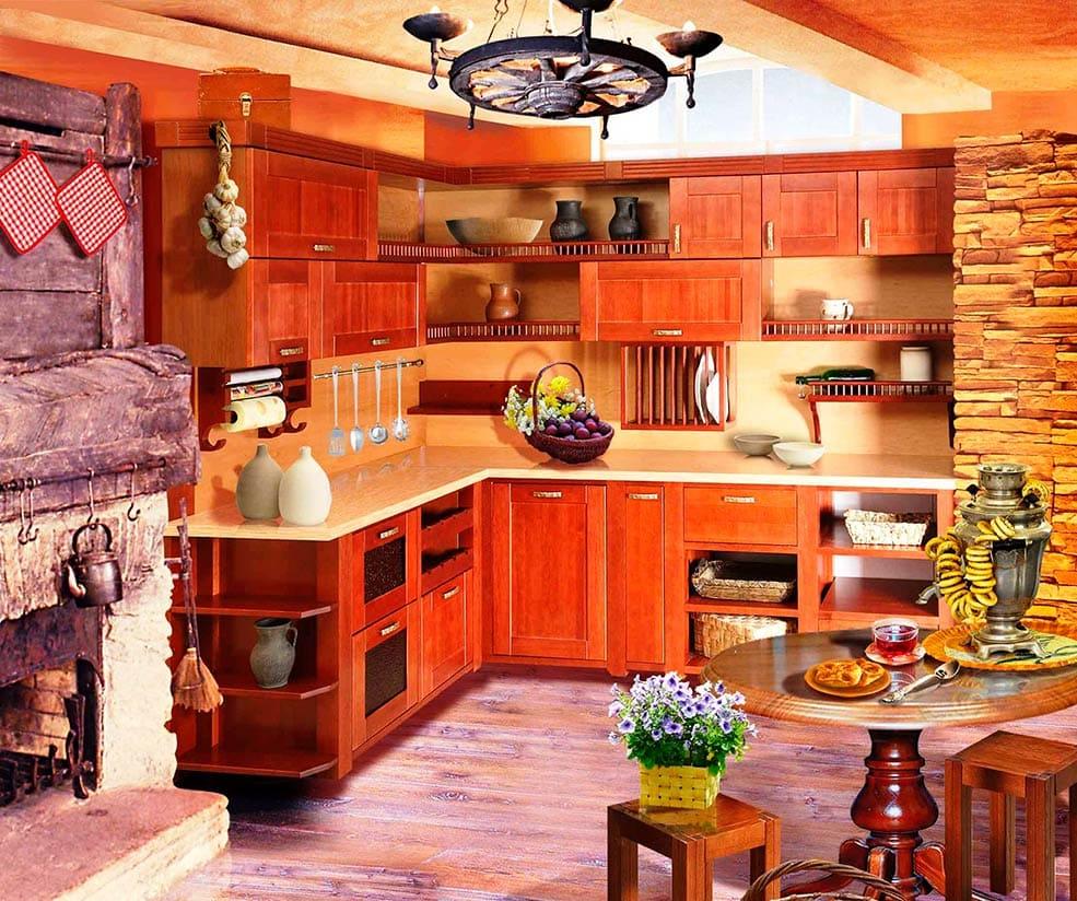 Дизайн недорогой кухни в частном доме