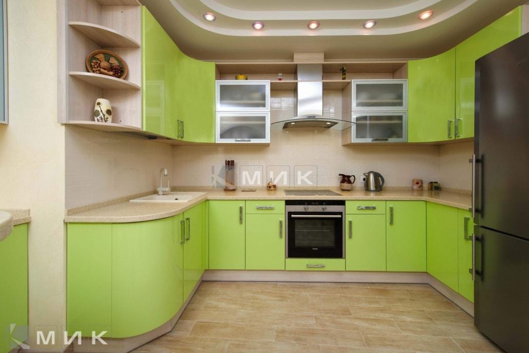 Кухня-студия-зеленая-4061