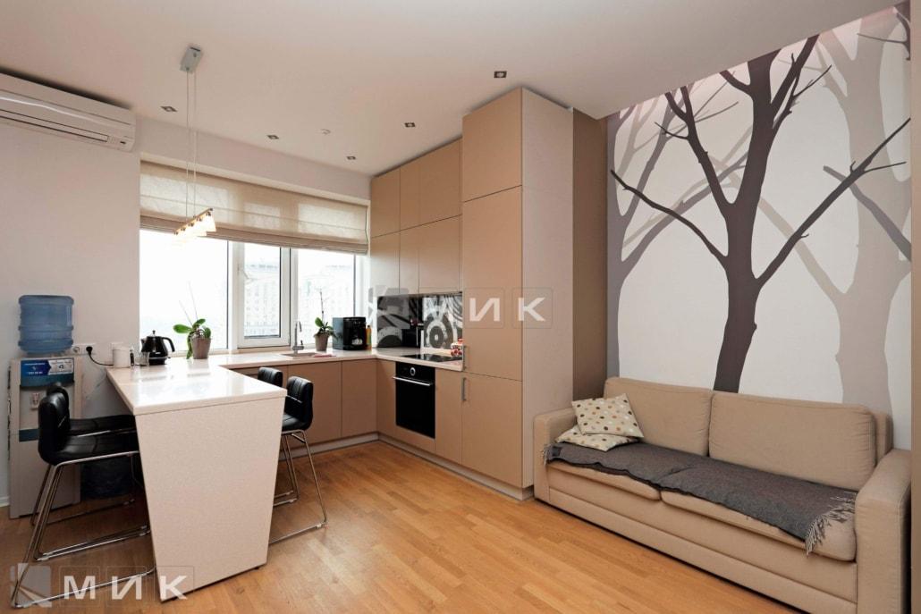 Кухня-студия-бежевая-4000