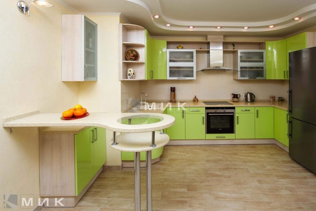 Кухня-студия-зеленая-4060