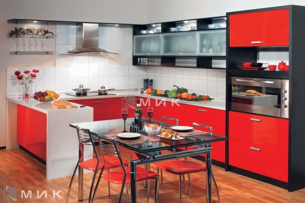 МДФ-кухня-в-красном-цвете-6001