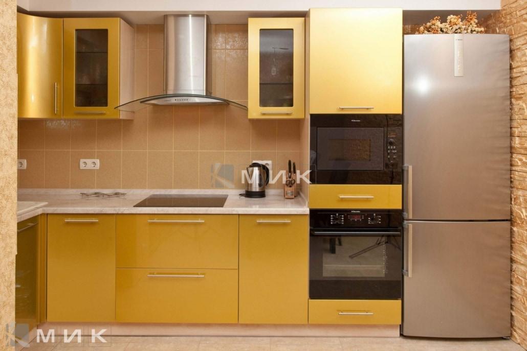 желтая-кухня-МДФ-6066