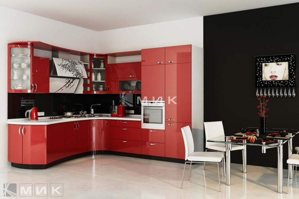красивая-кухня-гнутая-красного-цвета-7060
