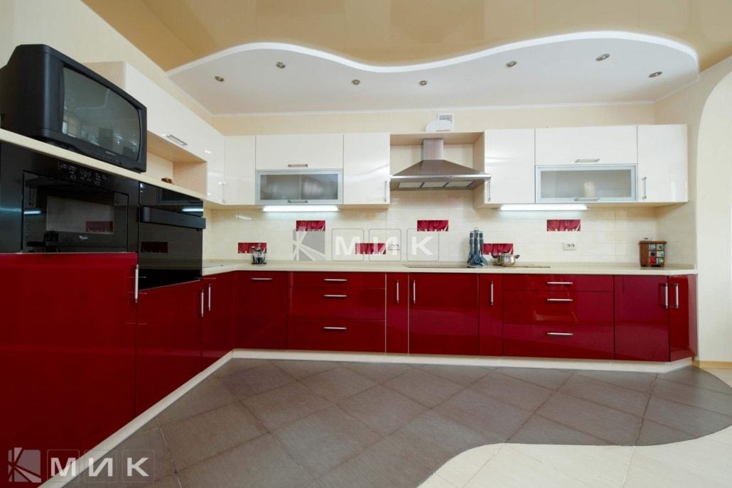 кухня-красная-с-белым-2155