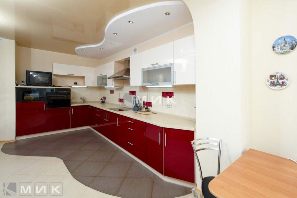 кухня-красная-с-белым-от-MIK-2157