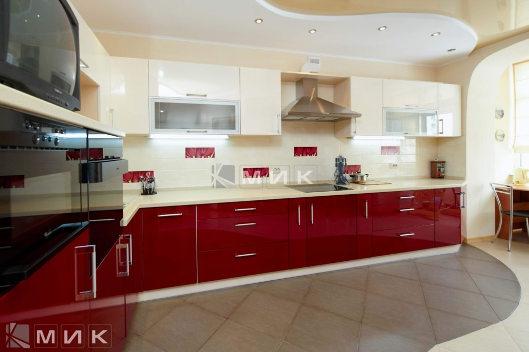 кухня-красная-с-белым-2158