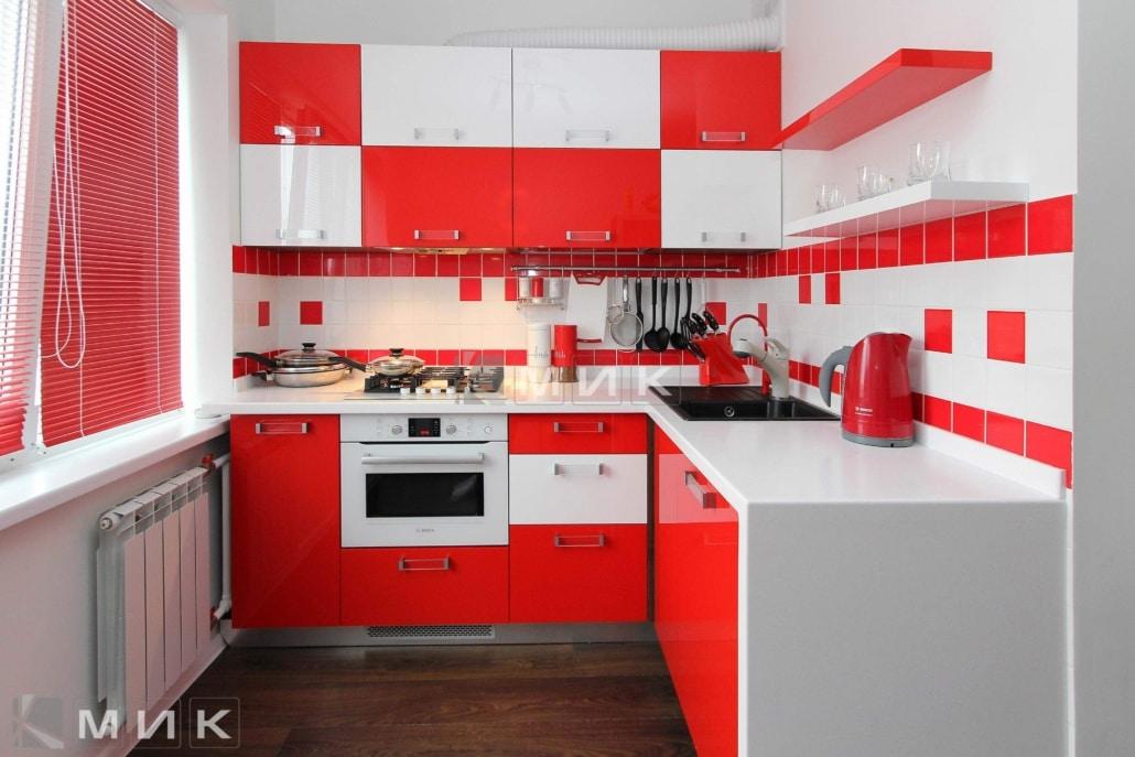 кухня-красная-с-белым-1099