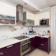 Фото кухни фасады беж и бордо