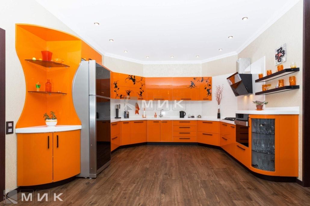 Оранжевая-кухня-пентагон-(Белогородка)-1000