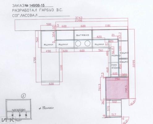 Чертеж-кухни-с-размерами-вид-сверху
