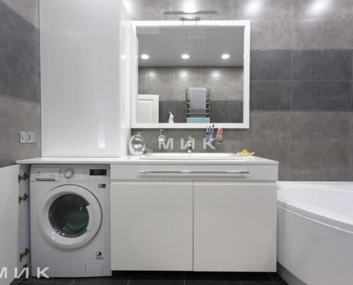 Ванная-комната-тумба со стиральной машиной