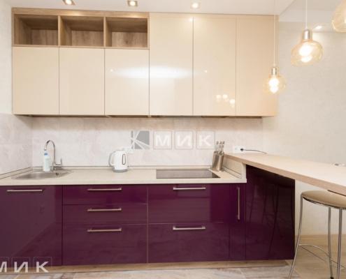 Кухня-двухцветная-МДФ-(Подворный)-1003
