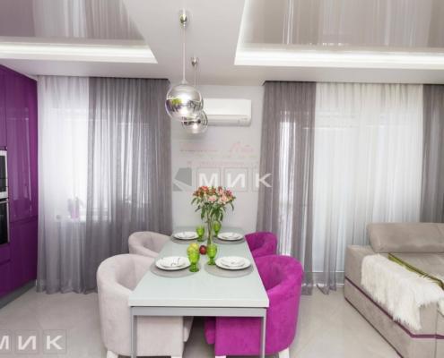 Кухня-студия-желто-фиолетовая(обухов)-1009