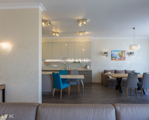 Кухня-студия-вид с гостиной