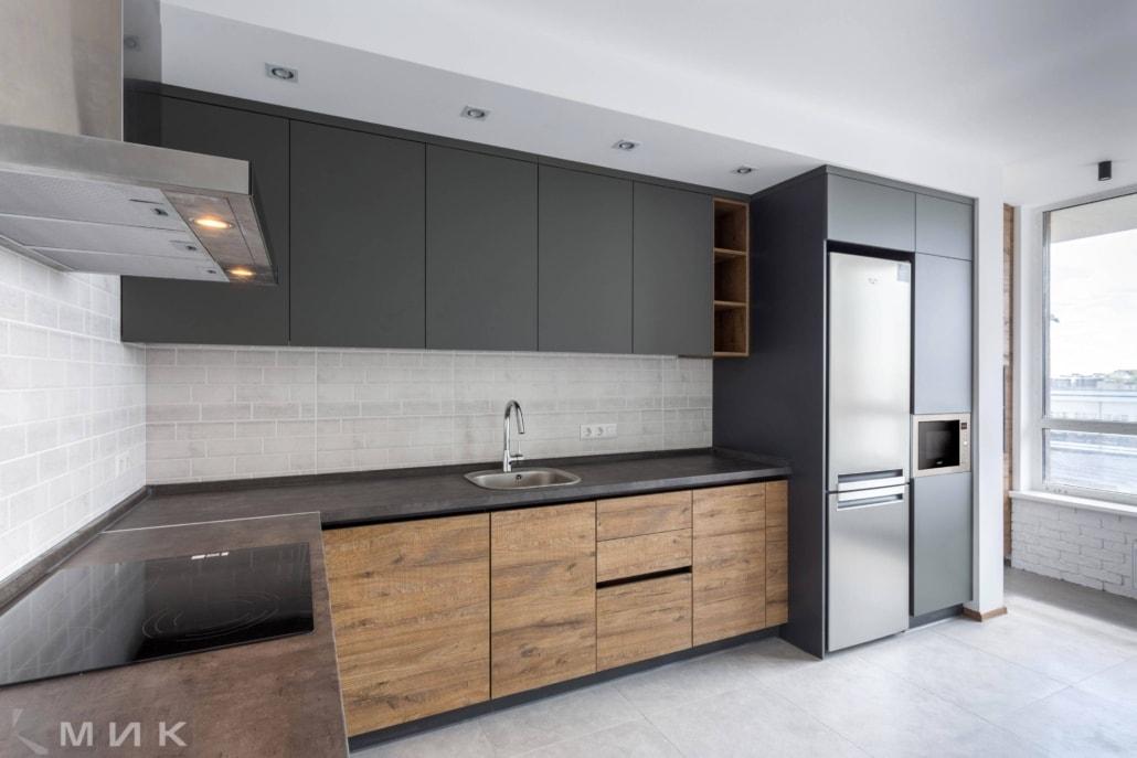 Кухня-фасад-пластик-серый-и-cleaf-1002 bb0297eb50c8c