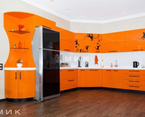 Оранжевая-кухня-пентагон-(Белогородка)-1003