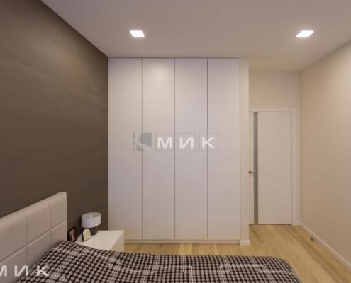 Встроенный шкаф распашной в спальне