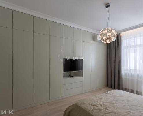 Стенка МДФ-Спальня-в-оливковом-цвете-1002