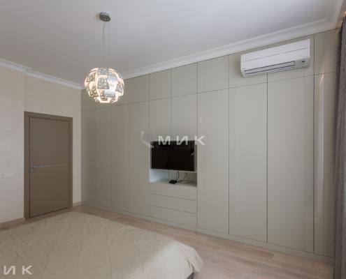 Стенка МДФ-Спальня-в-оливковом-цвете-1001