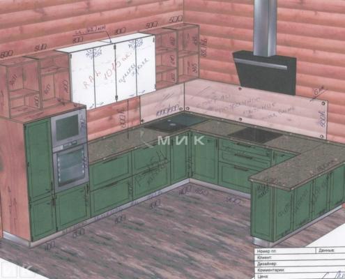 Чертеж-кухни-деревянном-доме-1000