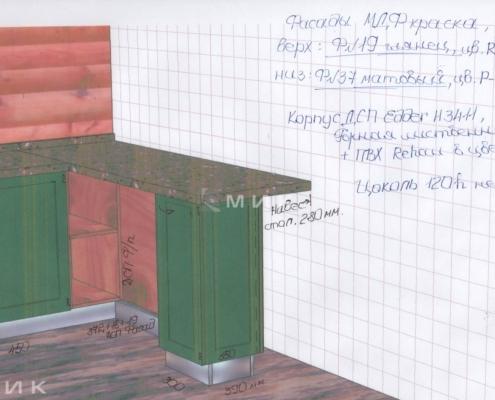 Чертеж-кухни-деревянном-доме-1004