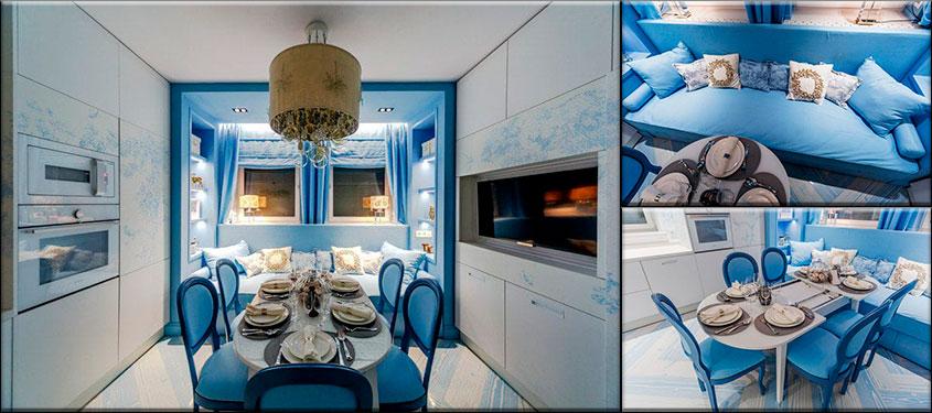 бело-голубая-кухня