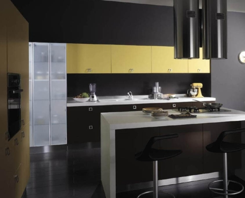 жёлто-чёрная-кухня-модерн