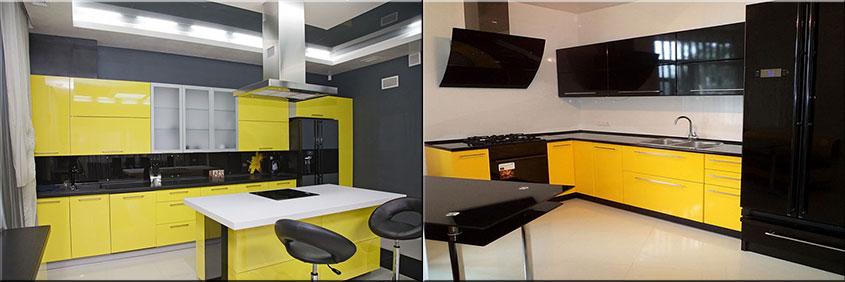 жёлто-чёрная-кухня