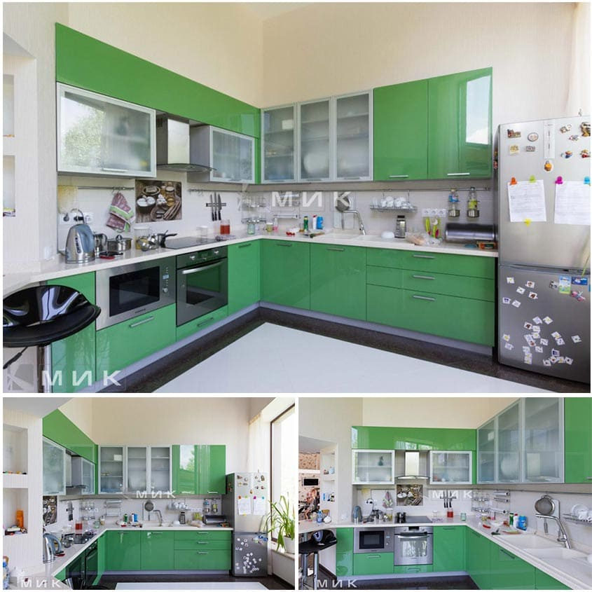 зелёная-кухня-модерн