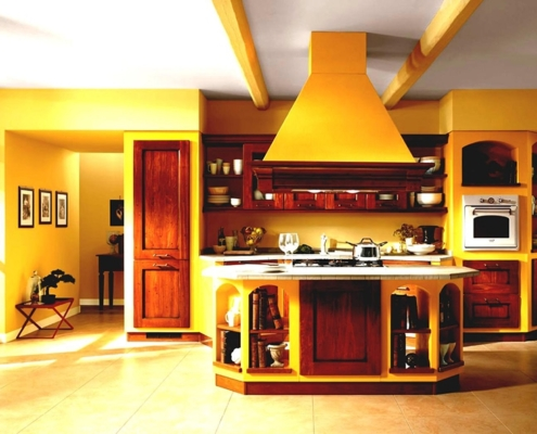 коричневый-с-жёлтым-на-кухне