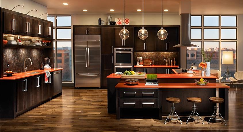 кухня-в-коричневых-тонах