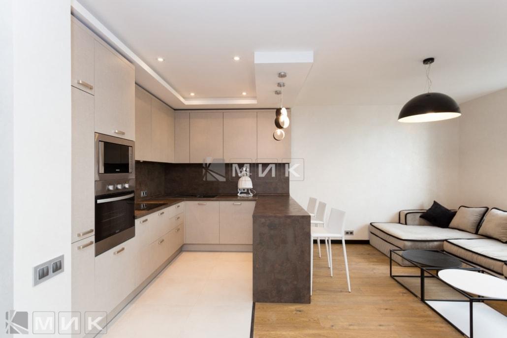 кухня с фасадом kleaf-1003