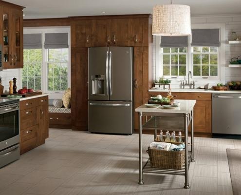 светло-коричневая-кухня-кантри
