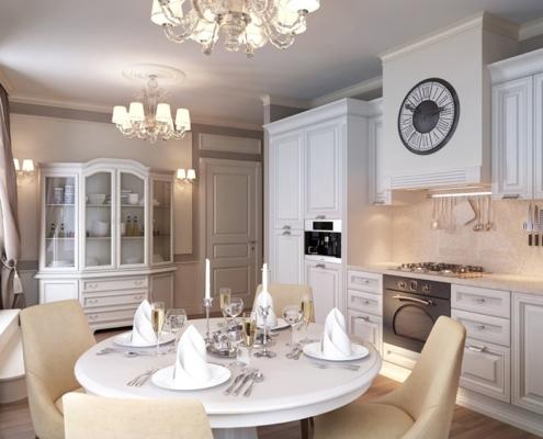 элегантная-белая-кухня