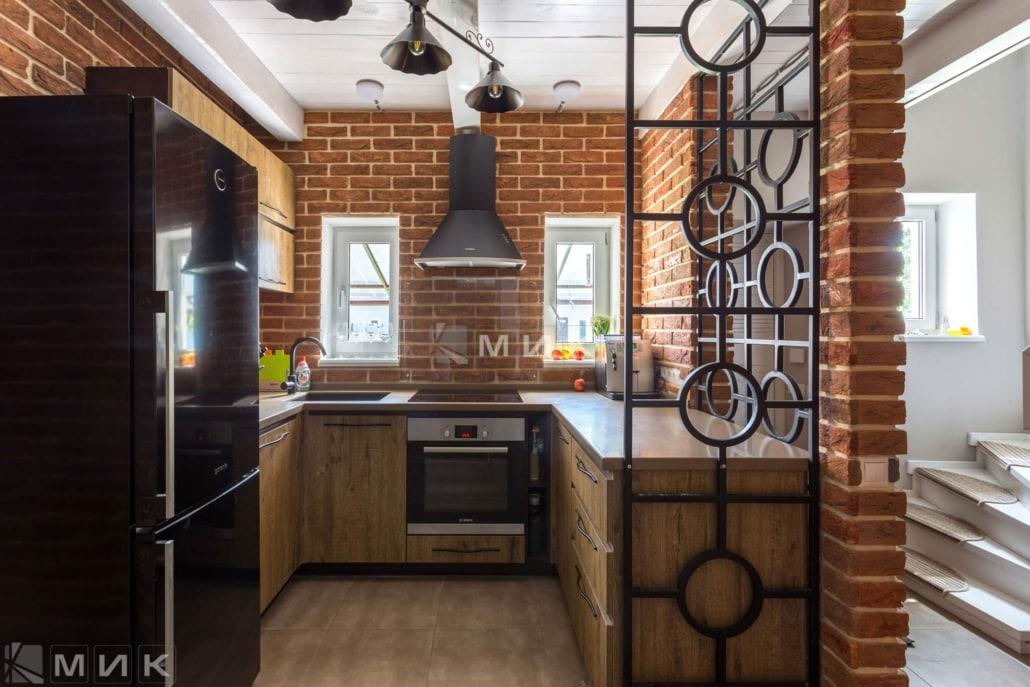 Кухня-в-лофт-интерьере-частного-дома-1000