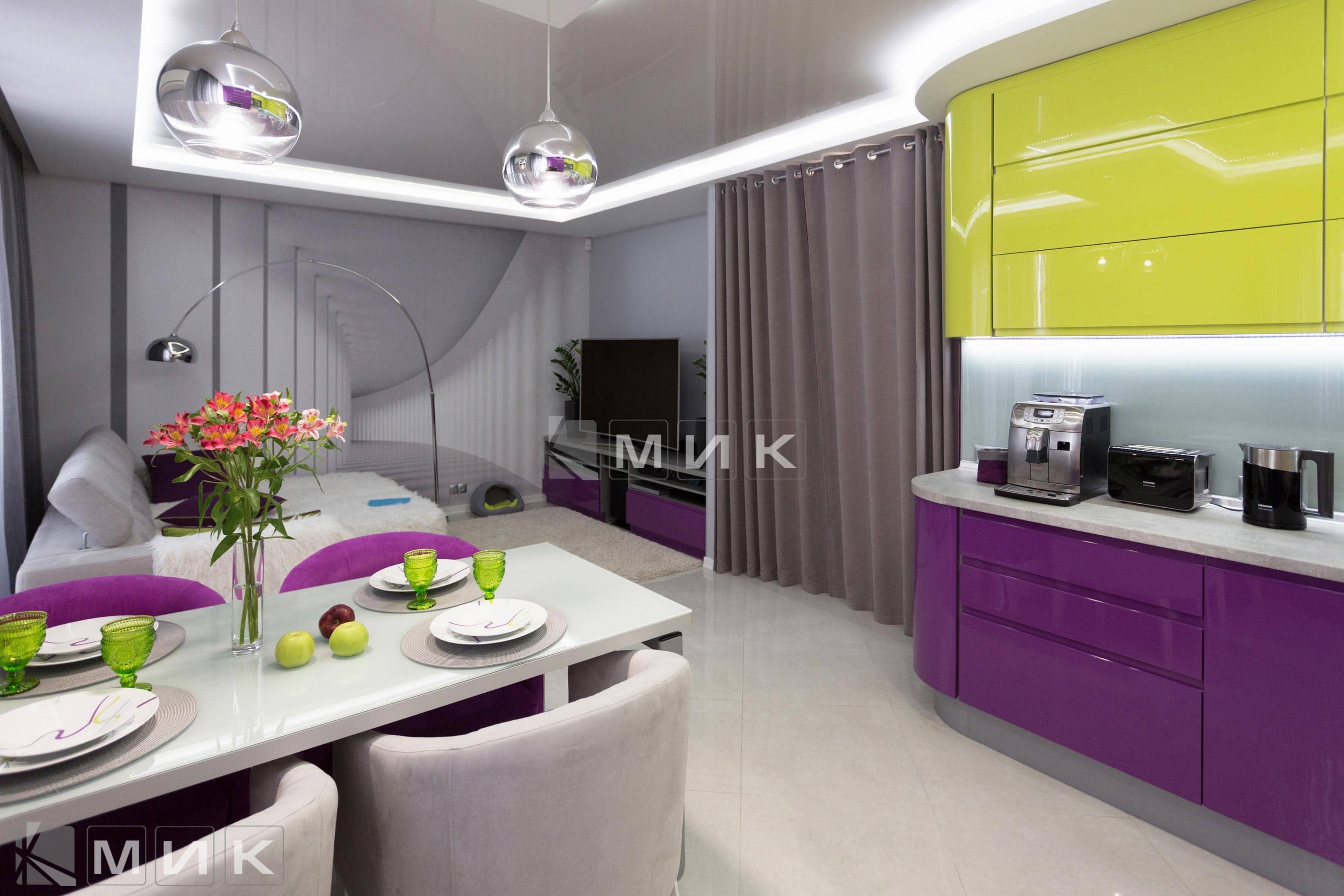 Кухня-студия-желто-фиолетовая(обухов)-1011