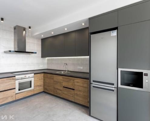 Кухня-без ручек фасад-пластик-серый-и-cleaf-1000