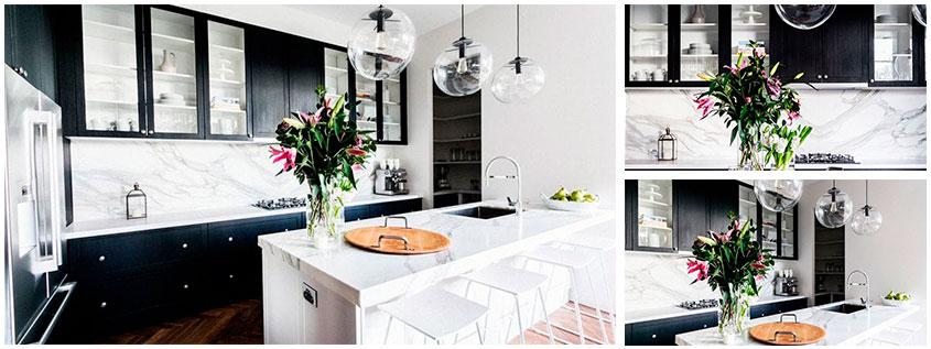 Черно-белая-кухня-в-стиле-контемпорари