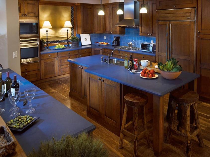 коричневый-с-голубым-на-кухне