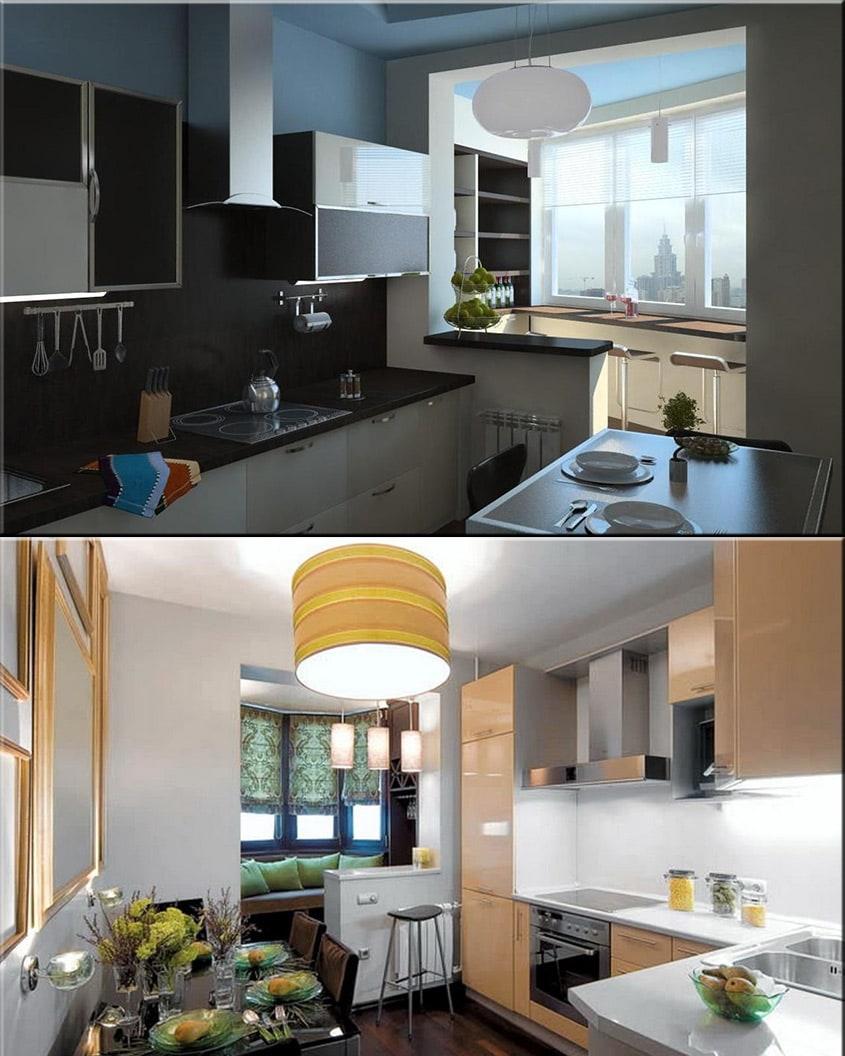 кухня-балкон-столешница-на-подоконник