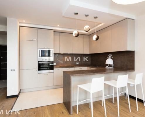кухня с фасадом kleaf-1000