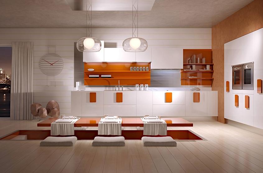 оранжевый-декор-на-кухне