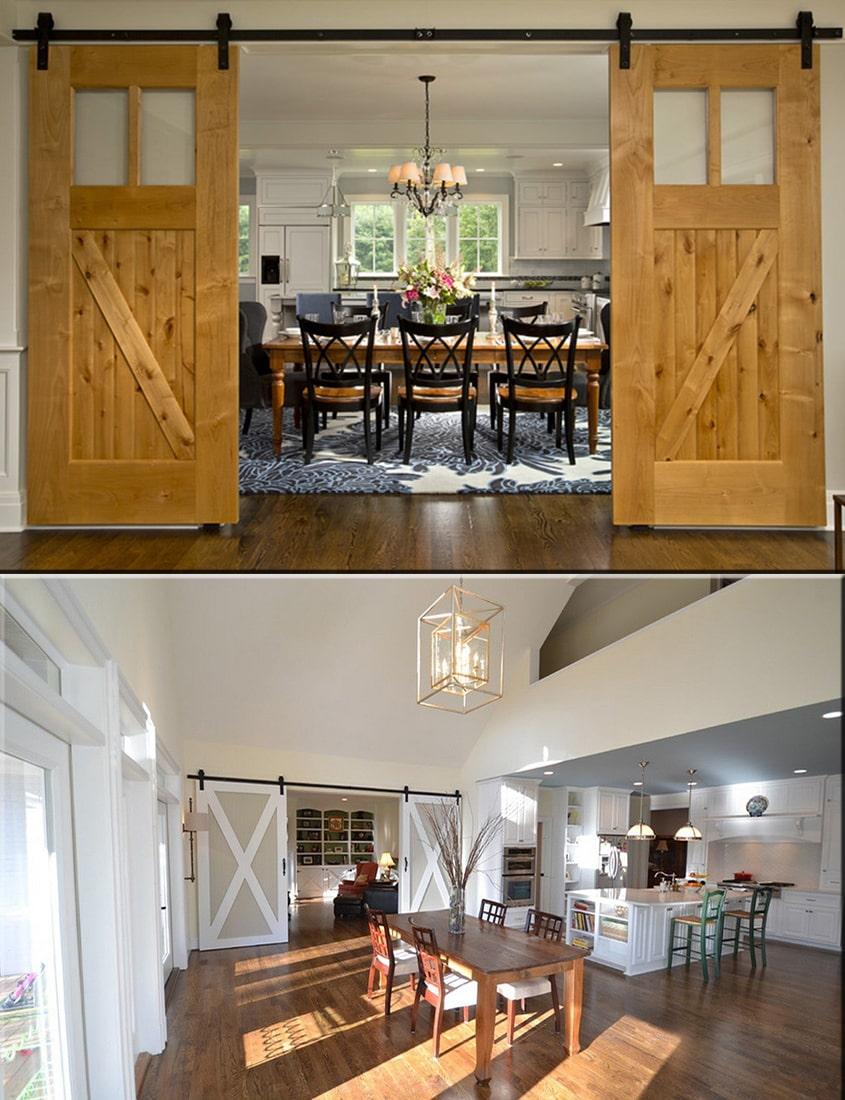 раздвижные-двери-на-кухне-столовой