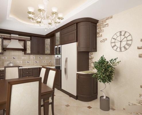 угловая-коричневая-кухня