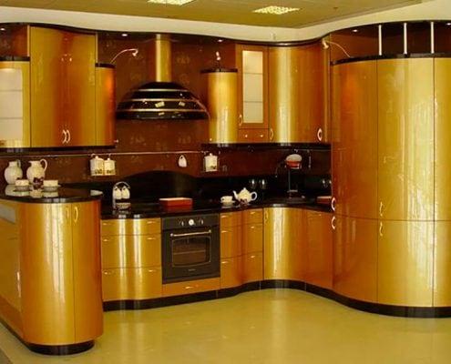 кухня-золото-металлик
