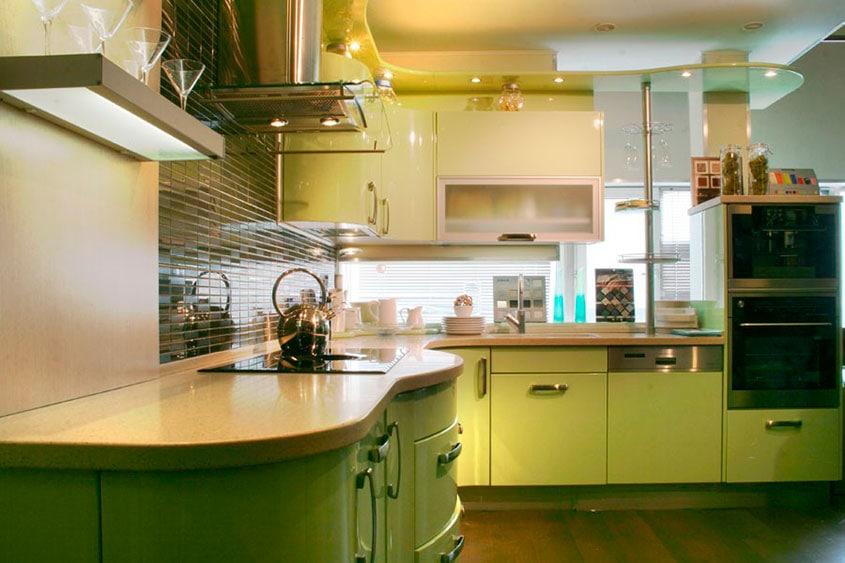 оливковая-кухня