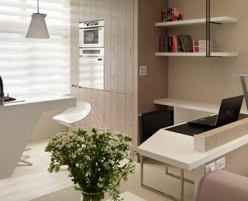 кухня-лоджия-кабинет