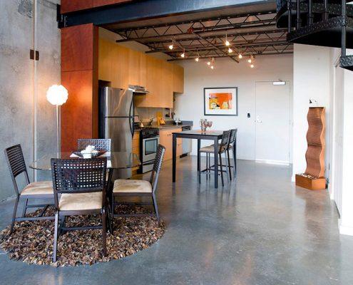 кухня-столовая-зонирование-ковром