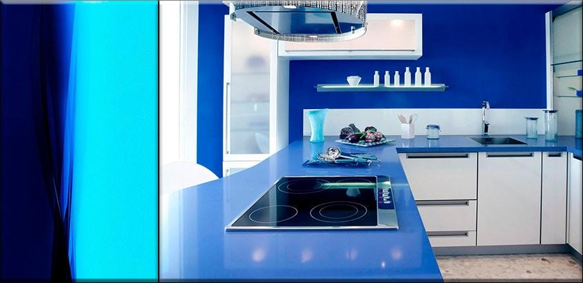 сине-голубая-кухня