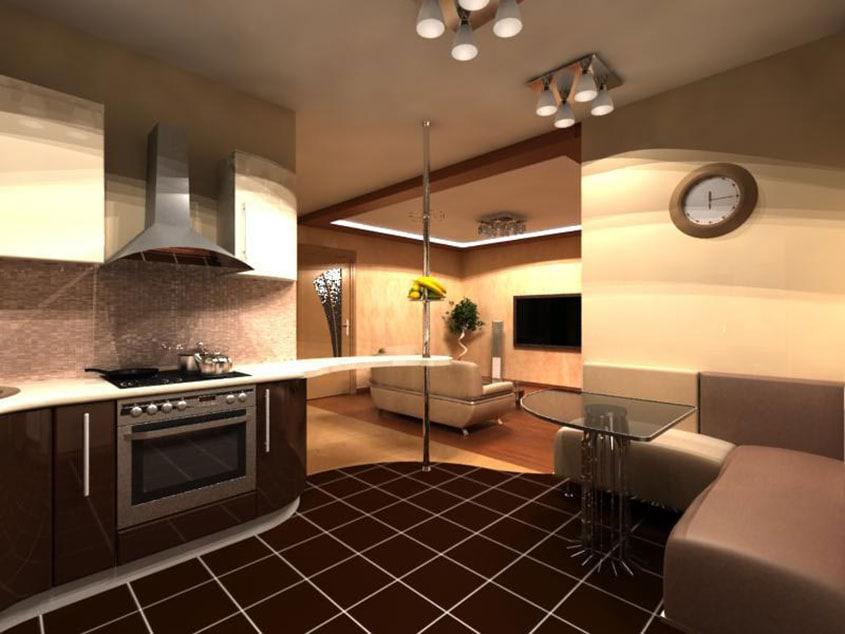 кухня-зонирование-пола